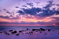 Sonnenuntergang in Livorno Stockbild