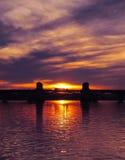 Sonnenuntergang-LKW-Transport Stockbilder