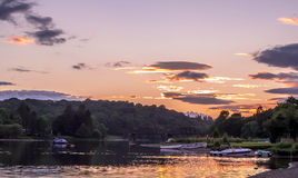 Sonnenuntergang Lochkens Schottland stockfoto