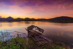 Sonnenuntergang am loie Stockfoto