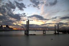 Sonnenuntergang in Louisville Lizenzfreie Stockfotos