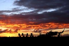 Sonnenuntergang-Luft lizenzfreies stockfoto
