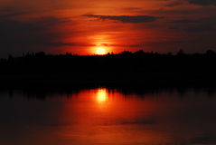 Sonnenuntergang-Magie Lizenzfreie Stockfotografie