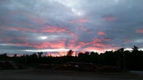 Sonnenuntergang in Maine Lizenzfreie Stockfotos