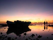 Sonnenuntergang in Maldives Stockfotos