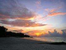 Sonnenuntergang Maldives Stockfotografie