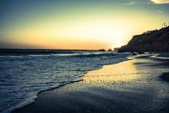 Sonnenuntergang in Malibu Stockfotografie