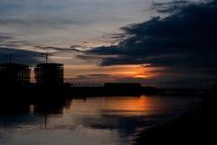 Sonnenuntergang in Manila Stockfotografie