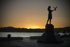 Sonnenuntergang in Marmaris stockbild