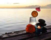 Sonnenuntergang in Mauritus Lizenzfreie Stockbilder