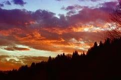 Sonnenuntergang in Mavrovo Stockfotografie