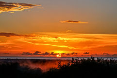 Sonnenuntergang MayagÃ-¼ ez Bucht Lizenzfreie Stockbilder