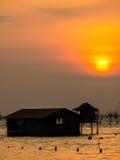 Sonnenuntergang in Meer Stockfotografie
