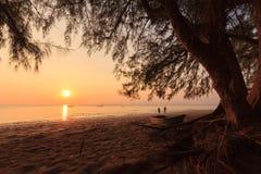 Sonnenuntergang in Meer Stockbild