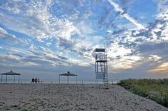 Sonnenuntergang in Meer Lizenzfreies Stockfoto