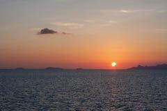 Sonnenuntergang-Meer Nuture Lizenzfreie Stockfotos