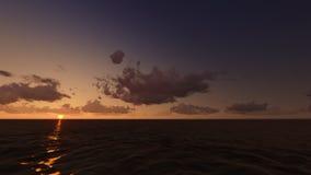 Sonnenuntergang in Meer Sun verließ raster Lizenzfreie Stockfotografie