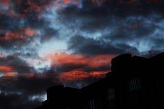 Sonnenuntergang in meiner Stadt Stockfotos