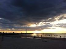 Sonnenuntergang Melbourne Stockbild