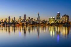 Sonnenuntergang, Melbourne stockfotografie