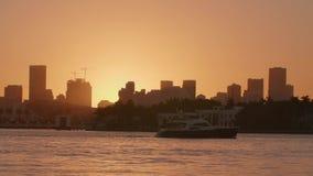 Sonnenuntergang in Miami, USA stock video