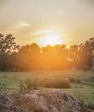 Sonnenuntergang in Michigan Lizenzfreie Stockfotos