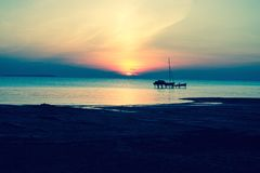 Sonnenuntergang in Michigan Stockfotos