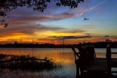 Sonnenuntergang mit backgound Stockbild