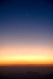 Sonnenuntergang mit Berg Lizenzfreie Stockbilder
