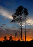 Sonnenuntergang mit einer Wolke Lizenzfreie Stockfotos