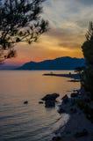 Sonnenuntergang mit Meer Lizenzfreies Stockfoto