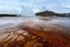 Sonnenuntergang-mittleres Geysirbecken Yellowstone Lizenzfreies Stockbild