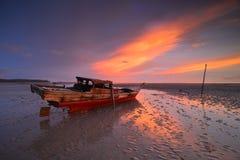 Sonnenuntergang Momen7 Batam wonderfull Indonesien Stockbild