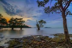 Sonnenuntergang Moment13 Batam Bintan wonderfull Indonesien Stockbild