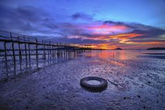 Sonnenuntergang Moment12 Batam Bintan wonderfull Indonesien Lizenzfreies Stockbild