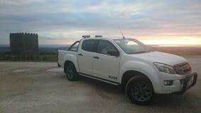 Sonnenuntergang in Morecambe Lizenzfreie Stockfotografie