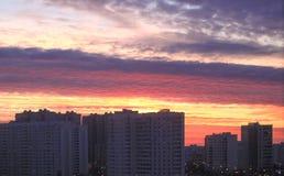 Sonnenuntergang in Moskau-Bezirk Stockfoto