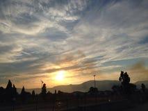 Sonnenuntergang in Mostar Stockfotografie