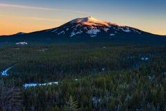 Sonnenuntergang Mt Burney Lizenzfreie Stockbilder