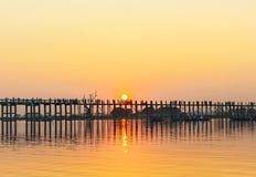 Sonnenuntergang Myanmar Stockfotos