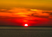Sonnenuntergang Mykonos Stockbilder