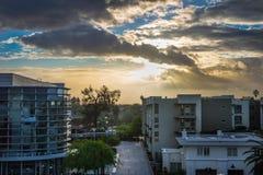 Sonnenuntergang nach dem Regen Stockfoto
