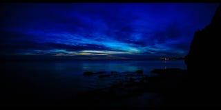 Sonnenuntergang nach Zeit Zypern (4k) Stockfoto