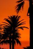 Sonnenuntergang nahe des Strandes von San Fernando lizenzfreie stockbilder