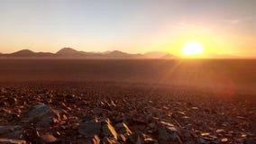 Sonnenuntergang in Namibia stockfotografie
