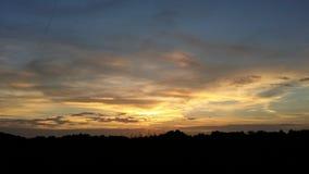 Sonnenuntergang in Nashville Tennessee stockbild