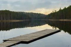 Sonnenuntergang am Nationalpark Lizenzfreies Stockbild