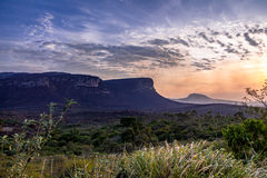 Sonnenuntergang in Nationalpark Chapada Diamantina - Bahia, Brasilien Stockfotos