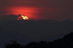 Sonnenuntergang an Nationalpark Maewong Lizenzfreie Stockfotografie