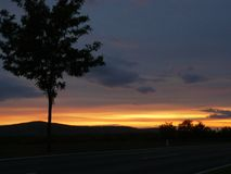 Sonnenuntergang in NetherAustria Lizenzfreie Stockfotografie